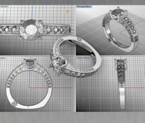 Computer aided design creation of jewelry - Diamonds Inc